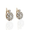 2.70ctw Antique Rose Cut Diamond Cluster Earrings 1