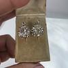 2.70ctw Antique Rose Cut Diamond Cluster Earrings 7