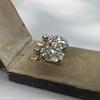 2.70ctw Antique Rose Cut Diamond Cluster Earrings 5