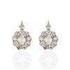 2.70ctw Antique Rose Cut Diamond Cluster Earrings 0