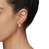 2.70ctw Antique Rose Cut Diamond Cluster Earrings 2