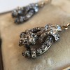 3.00ctw Victorian Antique Diamond Drop Earrings 27
