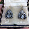 3.00ctw Victorian Antique Diamond Drop Earrings 5
