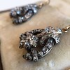 3.00ctw Victorian Antique Diamond Drop Earrings 9