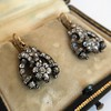 3.00ctw Victorian Antique Diamond Drop Earrings 13