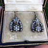 3.00ctw Victorian Antique Diamond Drop Earrings 21