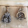 3.00ctw Victorian Antique Diamond Drop Earrings 14