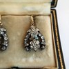 3.00ctw Victorian Antique Diamond Drop Earrings 10
