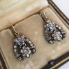 3.00ctw Victorian Antique Diamond Drop Earrings 25
