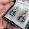 3.00ctw Victorian Antique Diamond Drop Earrings 6