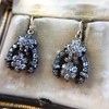 3.00ctw Victorian Antique Diamond Drop Earrings 17