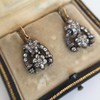 3.00ctw Victorian Antique Diamond Drop Earrings 23