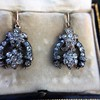 3.00ctw Victorian Antique Diamond Drop Earrings 16