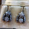 3.00ctw Victorian Antique Diamond Drop Earrings 18