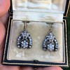 3.00ctw Victorian Antique Diamond Drop Earrings 20