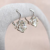 3.00ctw Old European Cut Diamond Earrings 5