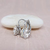 3.00ctw Old European Cut Diamond Earrings 1