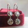 3.07ctw Double Old European Cut Dangle Earrings 9