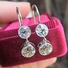 3.07ctw Double Old European Cut Dangle Earrings 14