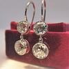 3.07ctw Double Old European Cut Dangle Earrings 8