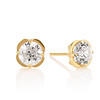 3.07ctw Old European Cut Diamond Clover Stud Earrings