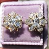 3.10ctw Antique Peruzzi Cut Cluster Earrings 12