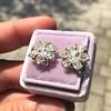 3.10ctw Antique Peruzzi Cut Cluster Earrings 13