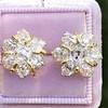 3.10ctw Antique Peruzzi Cut Cluster Earrings 0