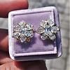 3.10ctw Antique Peruzzi Cut Cluster Earrings 8