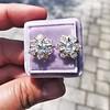 3.10ctw Antique Peruzzi Cut Cluster Earrings 10