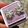 3.10ctw Antique Peruzzi Cut Cluster Earrings 11