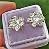 3.10ctw Antique Peruzzi Cut Cluster Earrings 1