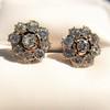 3.20ctw Old European Cut Victorian Cluster Earrings 21