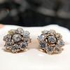 3.20ctw Old European Cut Victorian Cluster Earrings 16