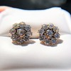 3.20ctw Old European Cut Victorian Cluster Earrings 22