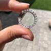 3.50ctw Diamond Hoop Earrings 10