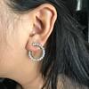3.50ctw Diamond Hoop Earrings 5