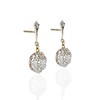 3.78ctw Antique Victorian Old Mine Cut Diamond Cluster Earrings 1