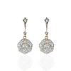 3.78ctw Antique Victorian Old Mine Cut Diamond Cluster Earrings 0