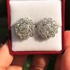 4.89ctw Vintage Cluster Old European Cut Diamond Earrings 4