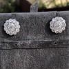 4.89ctw Vintage Cluster Old European Cut Diamond Earrings 7