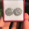 4.89ctw Vintage Cluster Old European Cut Diamond Earrings 0