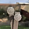 4.89ctw Vintage Cluster Old European Cut Diamond Earrings 1