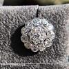 4.89ctw Vintage Cluster Old European Cut Diamond Earrings 16