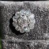4.89ctw Vintage Cluster Old European Cut Diamond Earrings 14