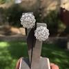 4.89ctw Vintage Cluster Old European Cut Diamond Earrings 31