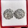 4.89ctw Vintage Cluster Old European Cut Diamond Earrings 5