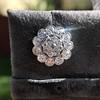 4.89ctw Vintage Cluster Old European Cut Diamond Earrings 22