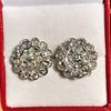 4.89ctw Vintage Cluster Old European Cut Diamond Earrings 9