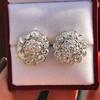 4.89ctw Vintage Cluster Old European Cut Diamond Earrings 3